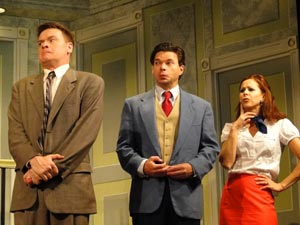 John Scherer, Hunter Foster, and Heather Parcells