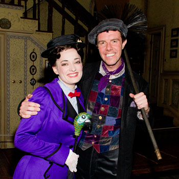 Laura Michelle Kelly and Gavin Lee