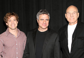 T.R. Knight, Neil Pepe, and Patrick Stewart