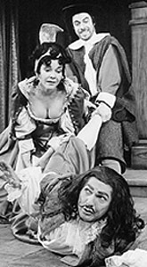 William Damkoehler, Barbara Orson,and Richard Kneeland in the1971-1972 season production ofThe School for Wives