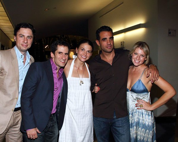 Zach Braff, Seth Rudetsky, Sutton Foster, Bobby Cannavale, and Ari Graynor