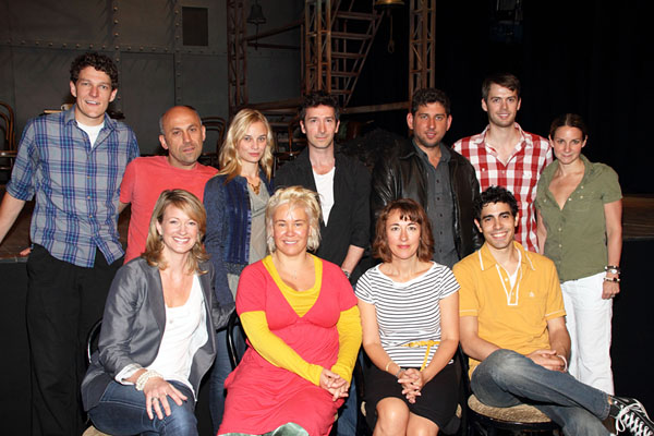 Emma Rice (second from left) and the cast of Brief Encounter (© Tristan Fuge)