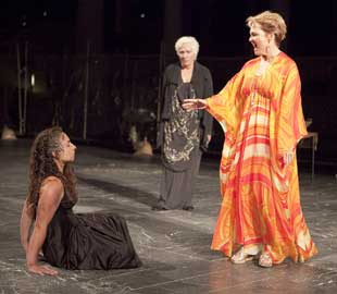 Annie Purcell, Olympia Dukakis, and Pamela Reed in Elektra