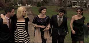 Jeremy Strong, Malin Akerman, Rebecca Lawrence,Adam Brody, and Katie Holmes in The Romantics