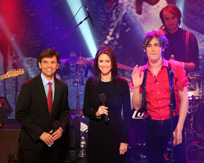 George Stephanopoulos, Julie Taymor, and Reeve Carney