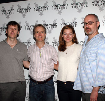 Will Eno, Linus Roache, Heather Burns, and Ken Rus Schmoll