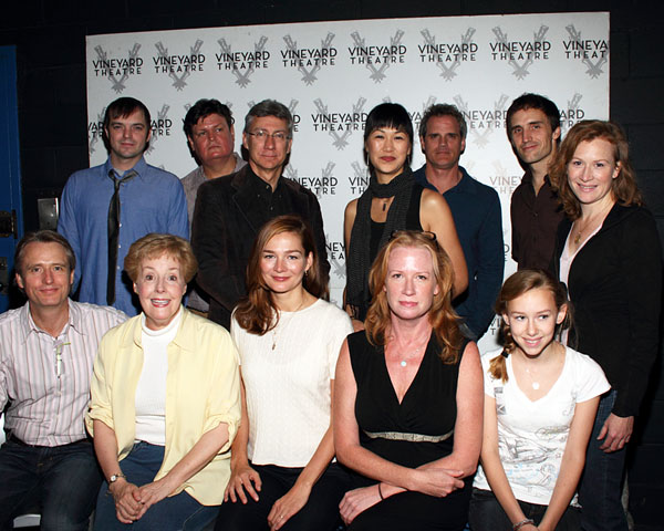 Front: Linus Roache, Georgia Engel, Heather Burns, Johanna Day, Olivia Scott