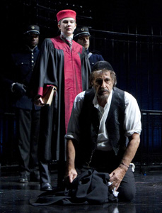 Lily Rabe and Al Pacino 