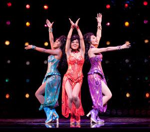 Adrienne Warren, Syesha Mercado, and Margaret Hoffman