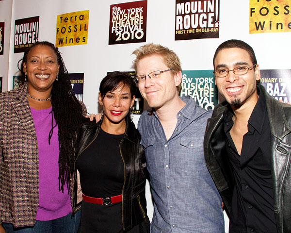 Fredi Walker, Daphne Rubin-Vega, Anthony Rapp, and Wilson Jermaine Heredia