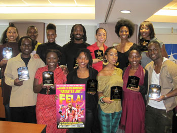 Chorus members from Broadway's Fela!