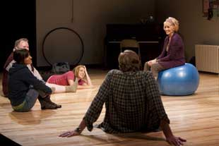 Sandy Duncan (right) and companyin Circle Mirror Transformation