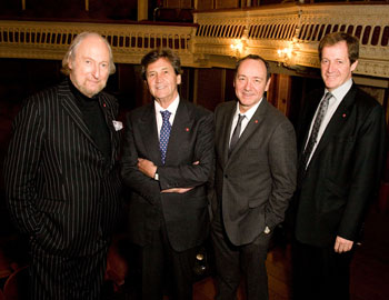 Ed Victor, Melvyn Bragg, Kevin Spacey and Alastair Campbell