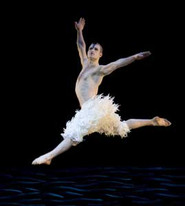 Richard Winsor inMatthew Bourne's Swan Lake