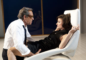 Robert Lindsay and Lydia Leonard in Onassis