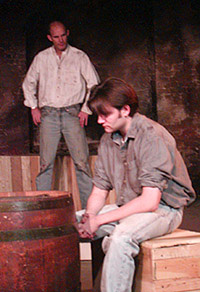 David Sitler (rear) and Scot Carlislein Of Mice and Men