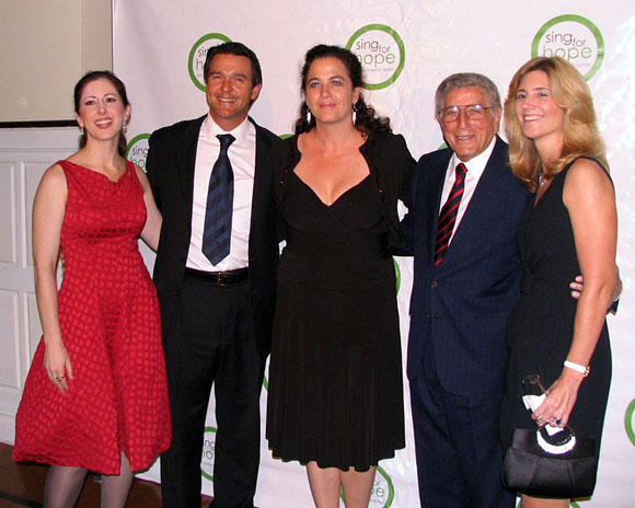 Camille Zamora, Nathan Gunn, Julie Gunn, Tony Bennett, and Susan Benedetto