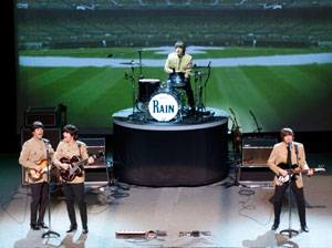 Joey Curatolo, Joe Bithorn, Ralph Castelli, and Steve Landes in Rain - A Tribute to The Beatles On Broadway (© Cylla von Tiedemann)