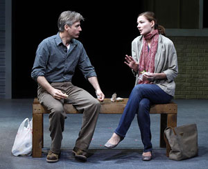 Linus Roache and Heather Burns in Middletown (© Carol Rosegg)