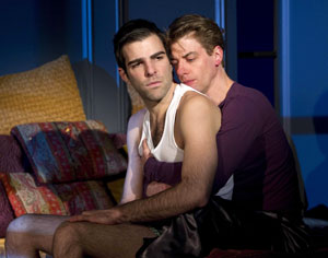 Zachary Quinto and Christian Borle  in Angels in America