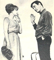 Barbara Harris with Louis Jourdan,who didn't make it to the Broadwayproduction of On a Clear Day ...