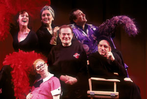 Jerry Herman surrounded by membersof the Showtune company(Photo © Carol Rosegg)