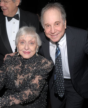 Celeste Holm and Paul Simon