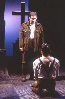 Christopher Fitzgerald (standing) andJeremy Shamos in Observe the Sonsof Ulster Marching Towards the Somme