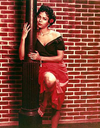 Dorothy Dandridge in a publicity photofor the film version of Carmen Jones