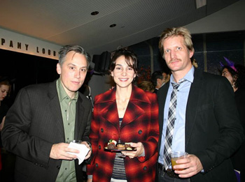 David Aaron Baker, Annie Parisse, and Paul Sparks
