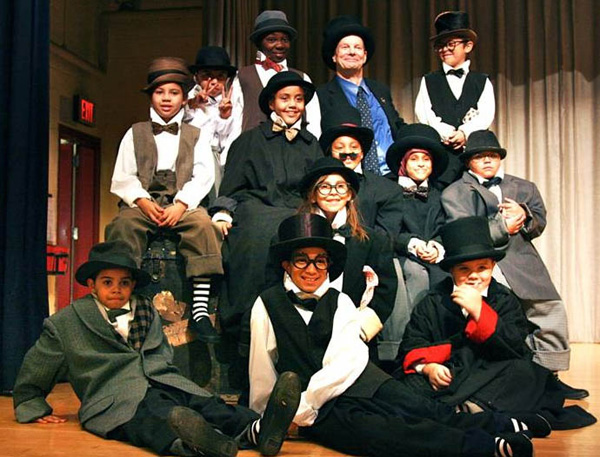 Bill Irwin and the kids at PS/IS111