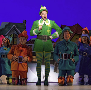 Sebastian Arcelus and company in Elf