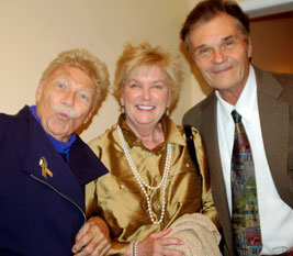 Rip Taylor with Mary and Fred Willard (© Sharon Graphics)