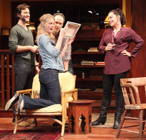 Adam Rothenberg, Christina Kirk, Gibson Frazier, and Dagmara Dominczyk in There Are No More Big Secrets (© Sandra Coudert)