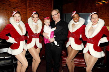 Jim Gaffigan with the Radio City Rockettes