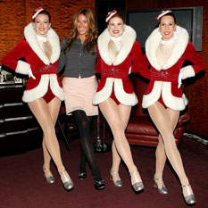 Kelly Bensimon with the Radio City Rockettes