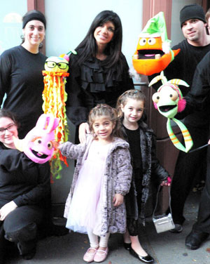 Teresa Guidice and her two children Gabriella and Milania