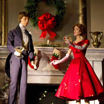A scene from the Lord & Taylor Christmas windows