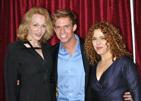 Jan Maxwell, Hunter Ryan Herdlicka, and Bernadette Peters 