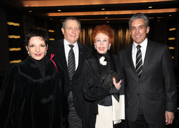 Liza Minnelli, Tom Sherak, Arlene Dahl, and Charles Cohen