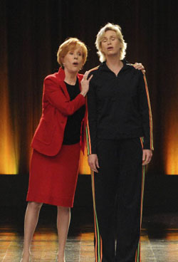 Carol Burnett and Jane Lynch on Glee