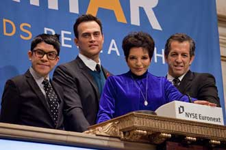 Mondo Guerra, Cheyenne Jackson, Liza Minnelli, and Kenneth Cole