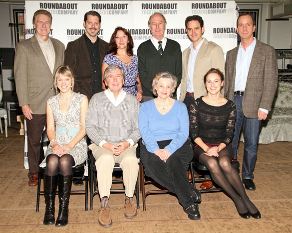 Back: Paul O'Brien, David Furr, Sandra Shipley, Paxton Whitehead, and Santino Fontana