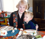 Polly Warfield with hergrandson Daniel in 1995.