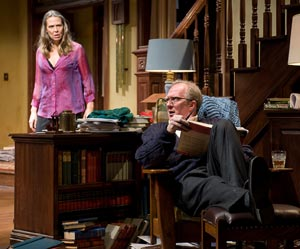 Amy Morton and Tracy Letts in  Who's Afraid of Virginia Woolf?