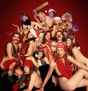 The cast of Naked Holidays