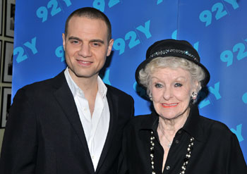 Jordan Roth and Elaine Stritch