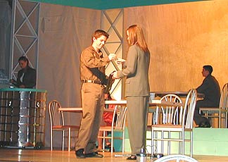 A scene from the Emerson High School production of Working