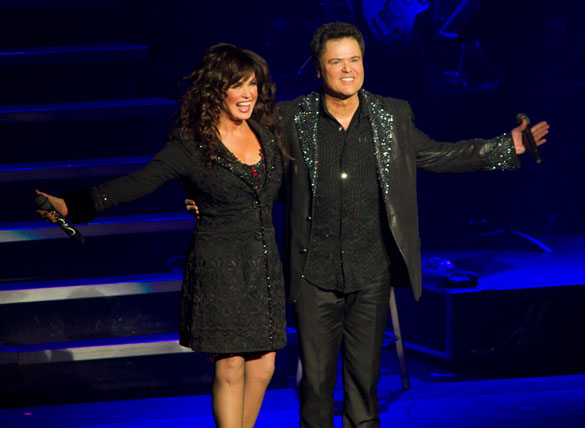 Donny Osmond and Marie Osmond at curtain call