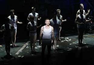Stark Sands and company in American Idiot
